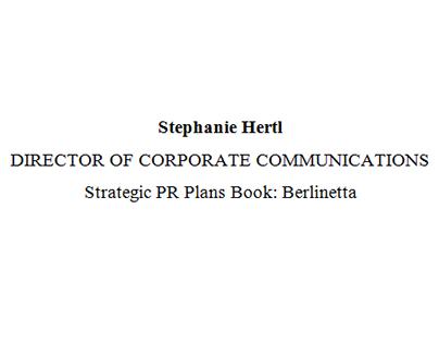 Berlinetta Relocation: Strategic Public Relations Plan
