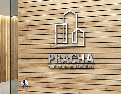 LOGO FOR PRACHA REAL ESTATE AND BUILDERS