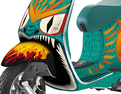 Art Vespa illustration