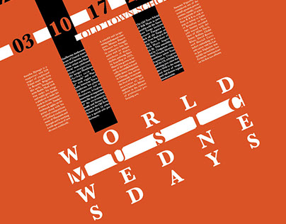 Typographic Poster | World Music Wednesdays