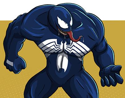 Venom (Marvel) Digital Drawing