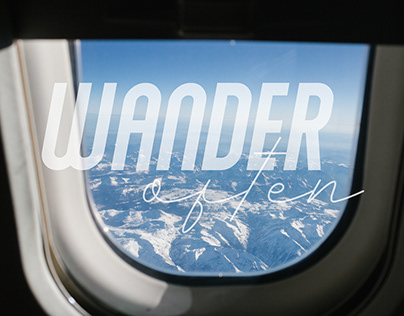 Wander Often Travel/Typography Series