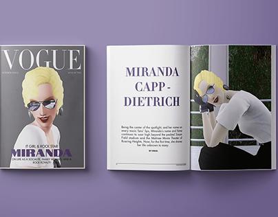 Vogue x The Sims 3 - magazine design concept
