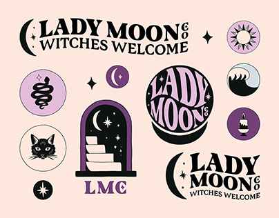Brand Identity for Lady Moon Co.