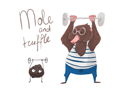 "Illustration ""Mole and truffle"""
