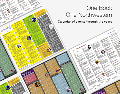 One Book One Northwestern Calendar Designs