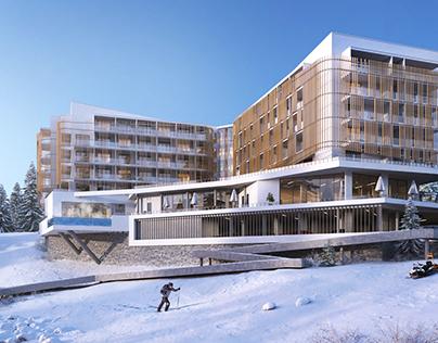 Premier Resort Hotel. Bukovel, Ukraine. CGI