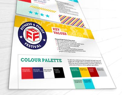 Fitness & Fight Festival: branding, posters
