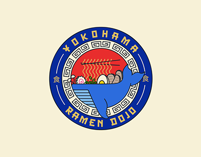 Yokohama Ramen Badge Branding Design