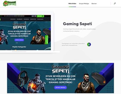 GamingSepeti.com Kurumsal Tasarımları