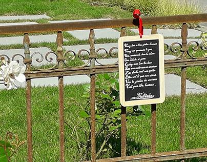 Des poèmes dans un jardin éphémère de VANNES
