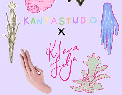 Kantastudio x Klara Lilja Sticker Collab