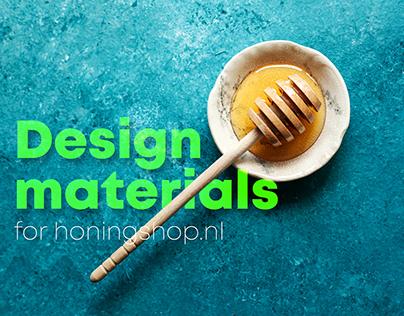 Design materials for Honingshop.nl