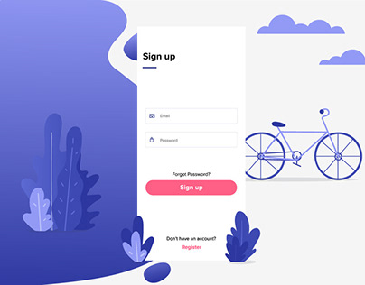 Bike Rental App - Sign Up