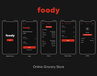 Foody grocery mobile app