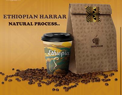 Imperium coffee packaging.