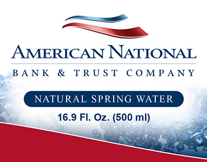 Caddell Communications—Water Bottle Label for ANB