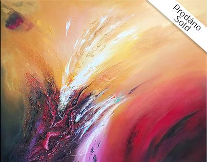 Orange Flower - Mixed media
