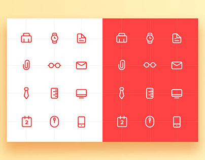 Free – Work Icon Set