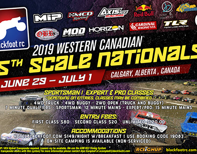 Blackfoot RC 2019 5th Scale Canadian Nationals Poster