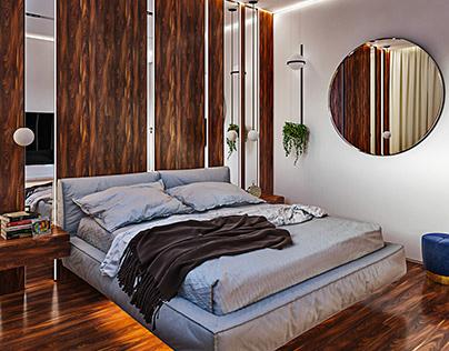 Дизайн квартиры в современном стиле в жилом квартале
