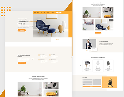 The Furniture landing page