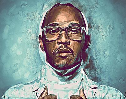 Lewis Hamilton #44 portrait