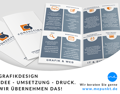 Grafikdesign / Falzflyer CCS-Consulting
