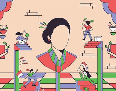 Kartini's Day Illustration