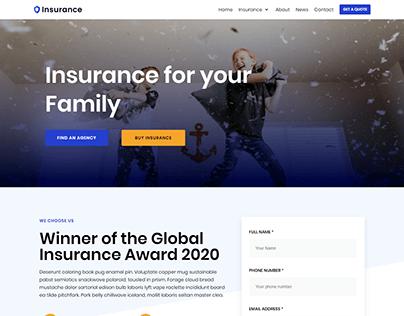 Insurance WordPress website design with elementor