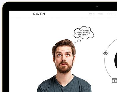 Raven Minimalist Multi-Purpose WordPress Theme