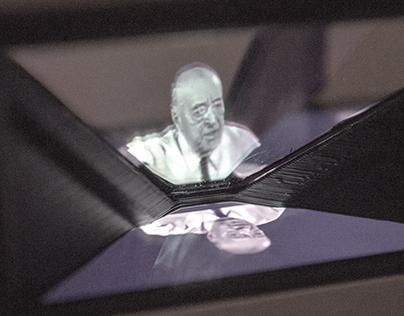 A Holographic Pyramid for the German Pavilion