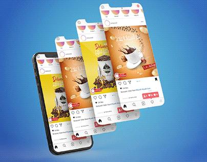 Social media designs (Ghaleb coffee and nuts)