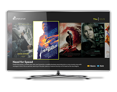 Concept VOD app for internet enabled TV/STBs
