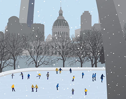 St. Louis Winterfest Illustration