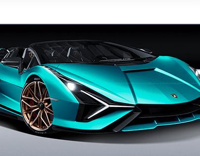 2020 Lamborghini Sian Tiffany Blue Roadster