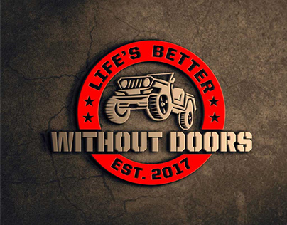 logo design project for life's better without door jeep