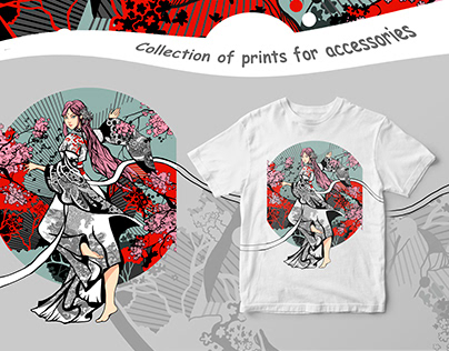 Collection of prints for accessories and t-shirts