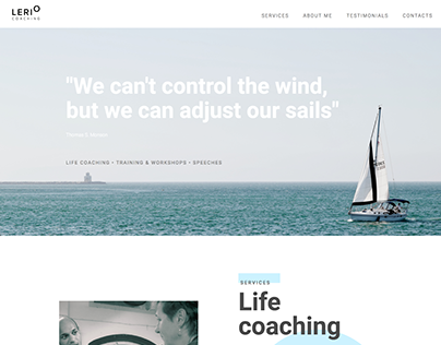 Website for coaching services