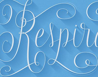 Respira - Lettering Design