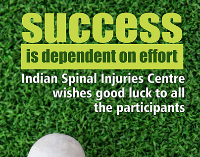 Standee Designs for Indian Spinal Injuries Centre