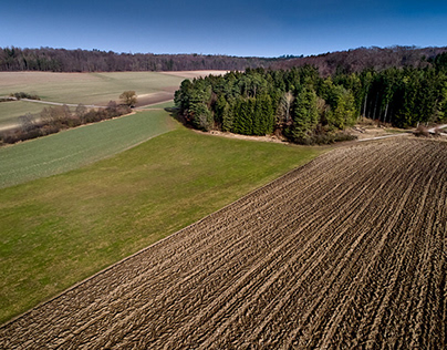 early spring aerial, Germany