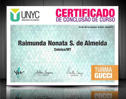 UNYC - Universidade Yes Cosmetics - Identidade visual