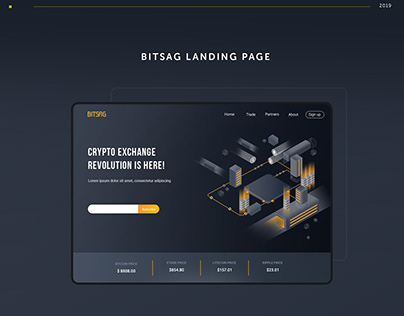 Crypto Exchange Landing Page