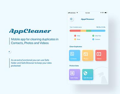AppCleaner - iOS App UI/UX Design