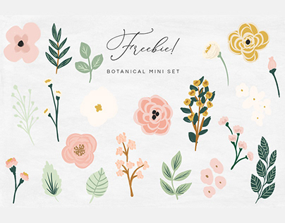 FREE MINI BOTANICAL ILLUSTRATION SET