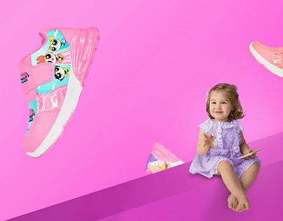 Diseño de Zapatos para niñas - Baby Lighting Shoes