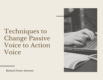 Techniques to Change Passive Voice to Action Voice