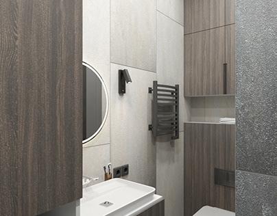 Bathroom in gray tones