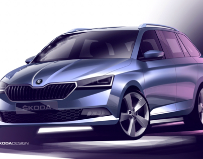 Press Sketch - Škoda Fabia Combi Facelift